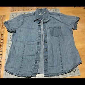 Tops - Button up denim shirt